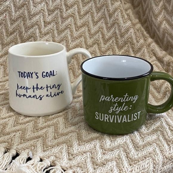Set of 2 Threshold Porcelain Coffee Mugs
